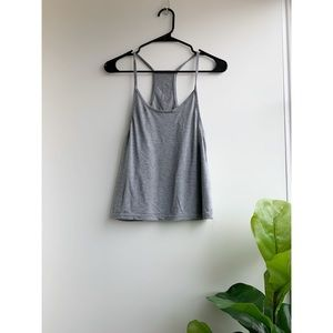 Gray Cropped Tank